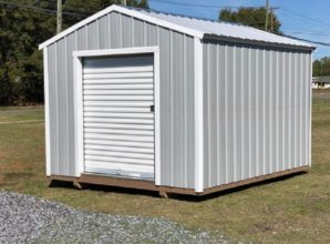 utility shed roll door
